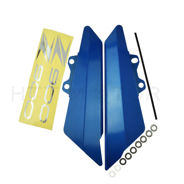 HTTMT- Left Right Side Fairing Side Panel Cover Plate For Kawasaki Z900 2017 Aluminum Blue
