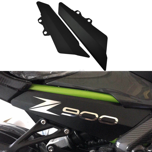 HTTMT- Aluminum Fairing Side Panel Cover Plate For Kawasaki Z900 2017 Matt Black
