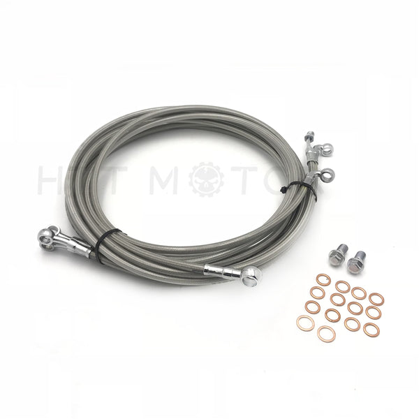 "HTTMT- 10-14"" APE CABLE Clutch Cable ABS Tri-Brake FOR Harley 14-17 Touring ABS STAINLESS"