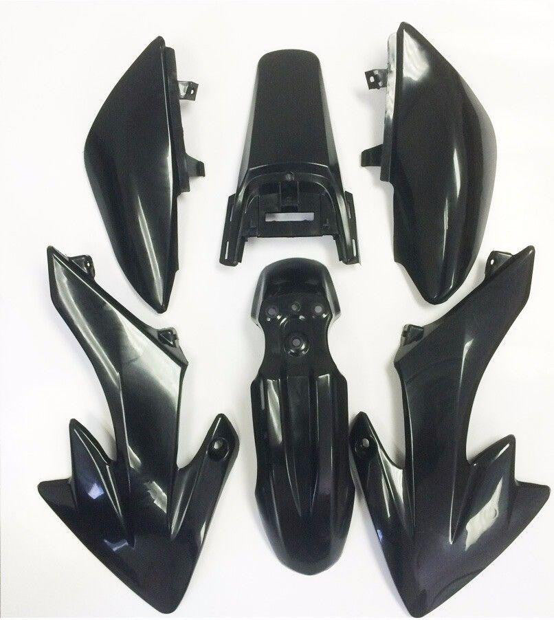 Black Plastic Fender Kit Body Work Fairing For Honda CRF XR XR50 CRF50 125CC Pit Dirt Bike