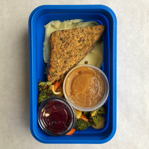 Vegan Lentil Loaf with Miso Gravy
