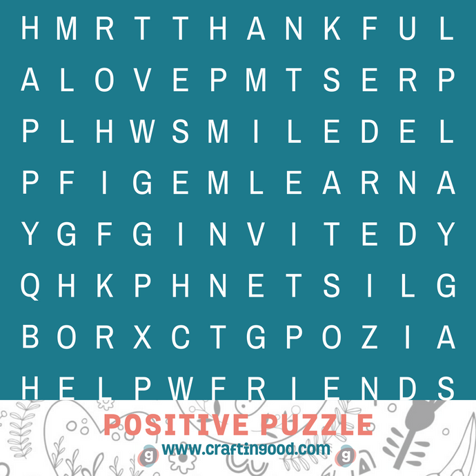 50% Off!! Positive Puzzle-Digital Download