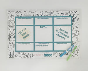 Dinner Table Conversation Placemat Kit