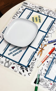50% Off! Dinner Table Conversation Placemat- Digital Download