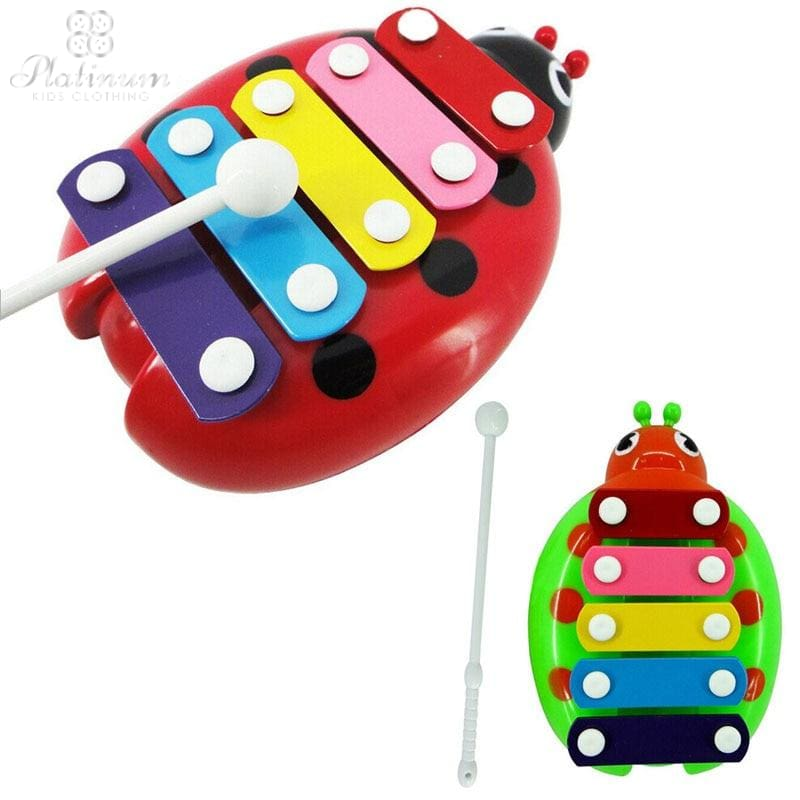 Baby Child Kid 5-Note Xylophone Musical Toys Wisdom Development Beetle Ar Toy Dropship Y714