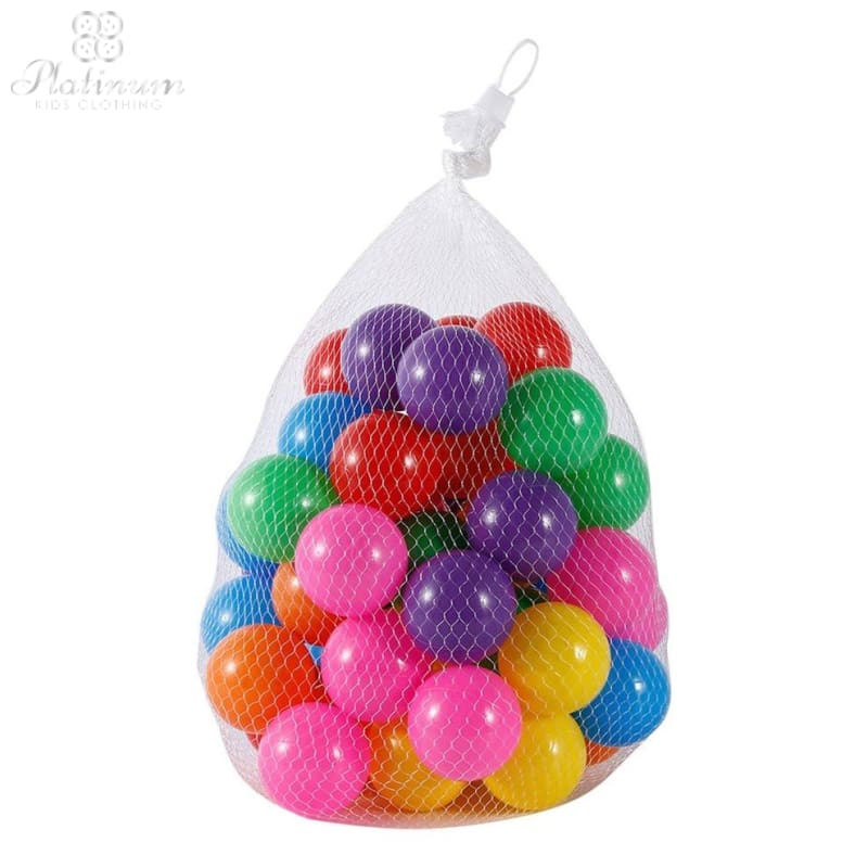 50Pcs Enjoyable 7 Colors Ball Eco-Friendly Soft Plastic Toy Ball Colorful Floating Ball Funny Bath Swim Ball Toy For Kids Baby