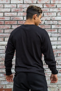 Champion® Long Sleeve Black Tee