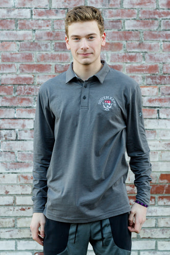 UA® Long Sleeve Charged Cotton Polo