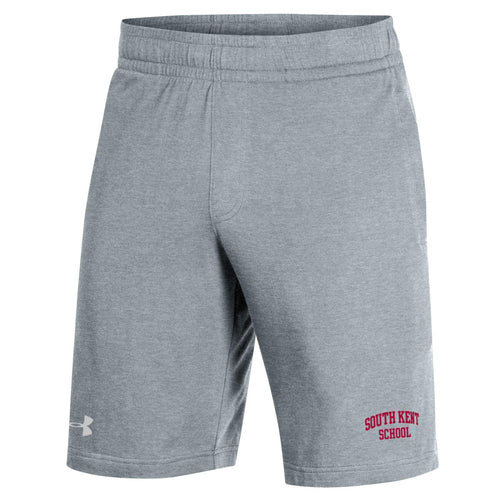 UA Men's Cotton Jersey Short-Steel Heather