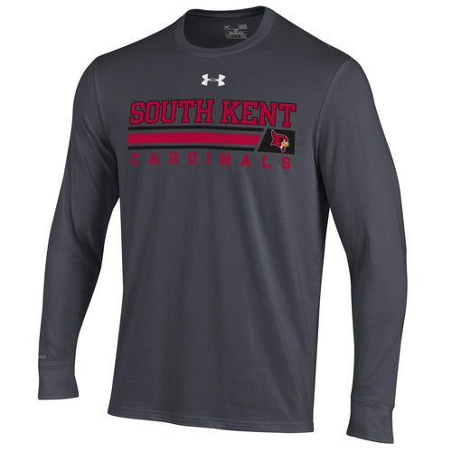 UA® Long Sleeve Charged Cotton Tee Carbon Heather
