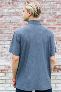 UA® Playoff Heathered Polo - Rhino Gray or Black