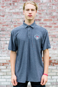 UA® Playoff Heathered Polo - Rhino Gray