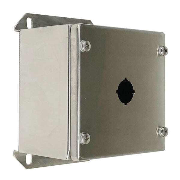 Single Hole Push Button Enclosure 316 Stainless Steel 120 x 120 x 85