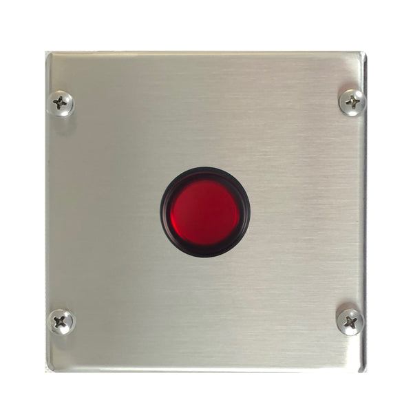 Control Station with Illuminated Red Push Button