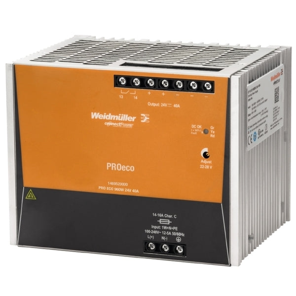 Weidmuller Power Supply PROeco 24V 960W 40 Amp