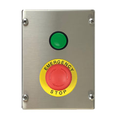 Control Station with Green Push Button and E-Stop