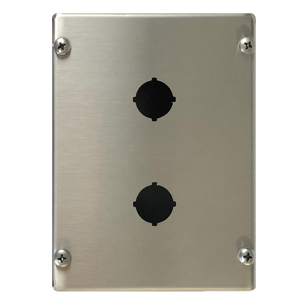 Two Hole Push Button Enclosure 316 Stainless Steel 160 x 120 x 85