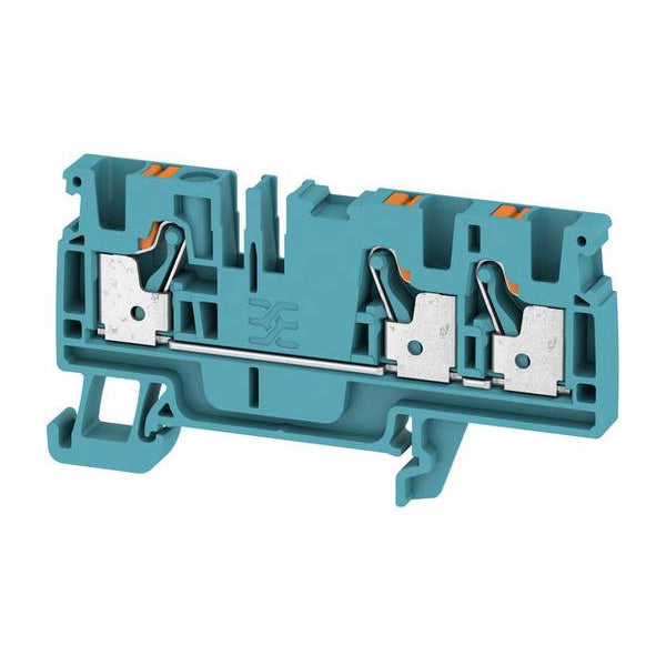 A3C 4 BL Feed-through terminal, PUSH IN, 4 mm² Blue - Weidmuller