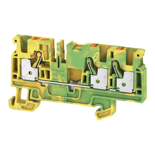 Weidmuller DIN Terminal A-Series Push-in 4mm Green-Yellow