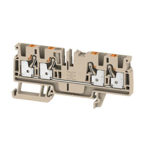 Weidmuller DIN Terminal A-Series Push-in 4mm Beige