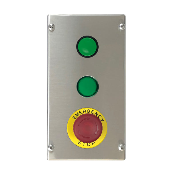 Control Station with Green Push Button, LED Indicator & Illuminated E-Stop