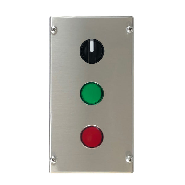 Control Station with Selector Switch, Green & Red LED Indicator