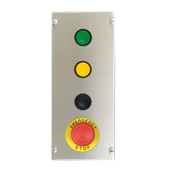 Control Station with Green, Black & Yellow Push Buttons and E-Stop