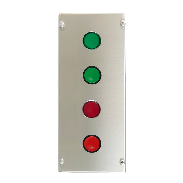 Control Station with Green & Red Push Buttons, Green & Red LED Indicators