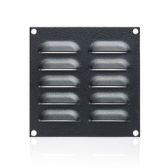 Louvre Vent Plate 130 x 130 - RAL9005 Black