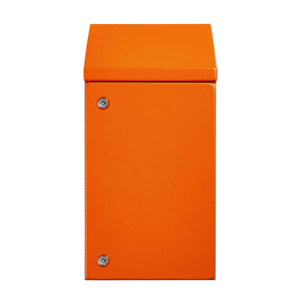Sloping Roof Electrical Enclosure 600H x 400W x 250D IP66 Orange