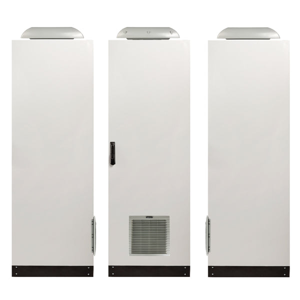 1860H x 800W x 400D IP55 Floor Standing Electrical Cabinet with Vents