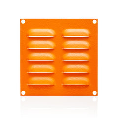 Louvre Vent Plate 130 x 130 - RAL2000 Orange