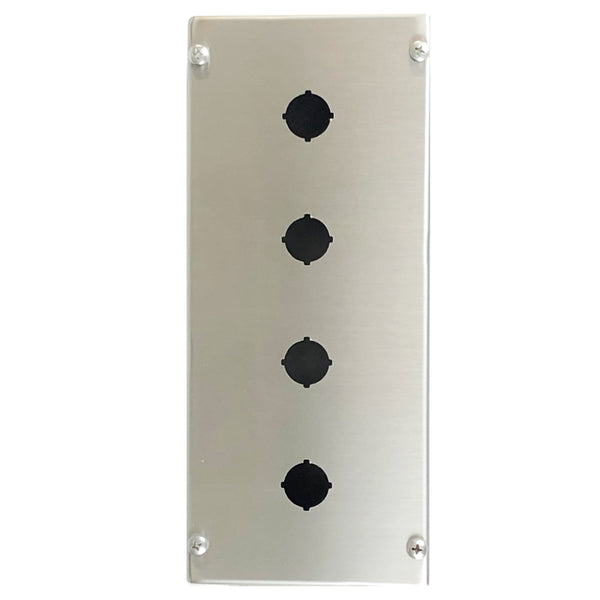 Four Hole Push Button Enclosure 316 Stainless Steel 280 x 120 x 85