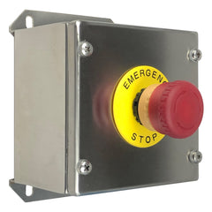 Stainless Steel Illuminated Emergency Stop Button Assembly