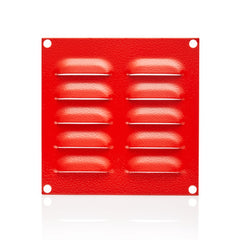 Louvre Vent Plate 130 x 130 - RAL3001 Red