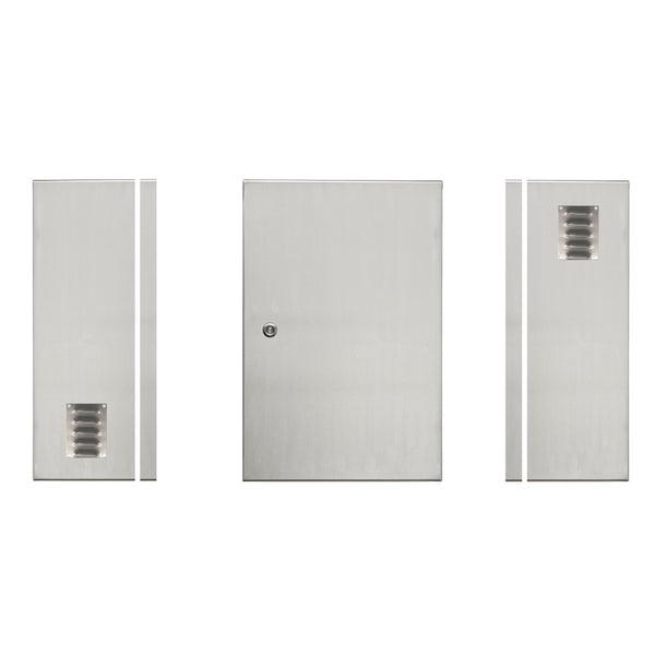 300H x 200W x 150D 316ss Electrical Enclosure with Louvre Vents