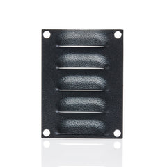 Louvre Vent Plate 100 x 75 - RAL9005 Black
