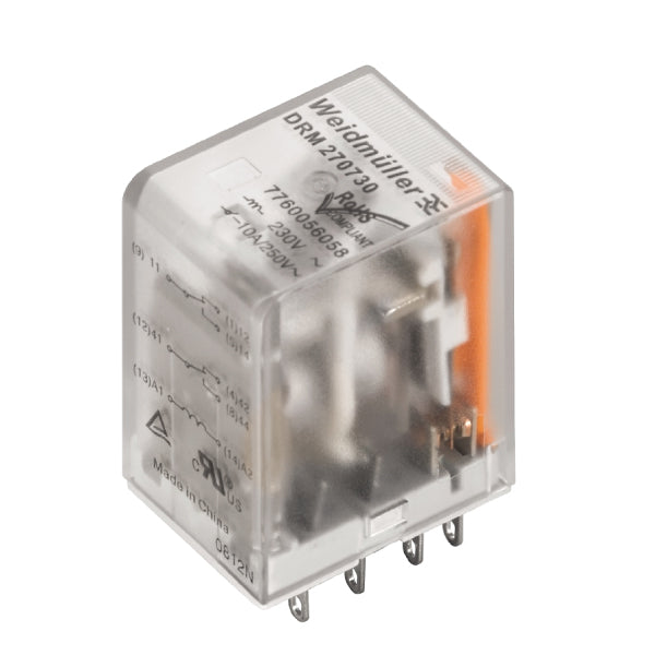 DRM570024L/4CO/24VDC D-SERIES DRM Relay 4CO 24VDC 5A - Weidmuller