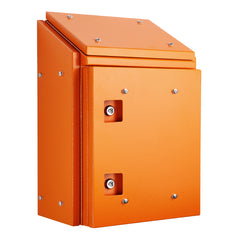 Sloping Roof Enclosure 600H x 600W x 300D - Orange with Sun Shield