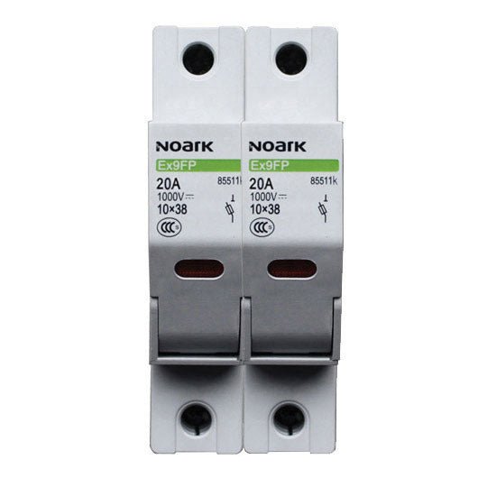 Noark Fuse Carrier 2 Pole 10x38mm 1000V DC
