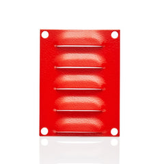 Louvre Vent Plate 100 x 75 - RAL3001 Red