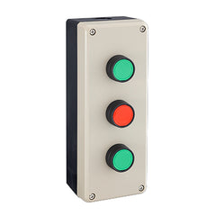 Push Button Station 200mm 3 Hole Beige