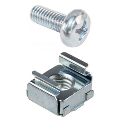 "M6 Cage Nut and Screw for 19"" Data Racks, Pack of 50"