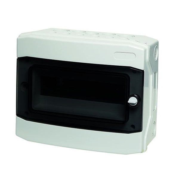 12 Way IP65 Enclosure 318x258x142 Transparent Door