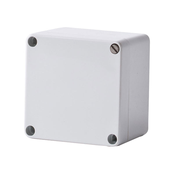 Polycarbonate Terminal Box 80 x 80 x 55 with Grey Lid IP66