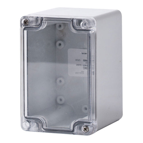 Polycarbonate Terminal Box 120 x 80 x 90 with Transparent Lid IP66
