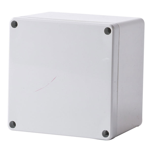 Polycarbonate Terminal Box 120 x 120 x 90 with Grey Lid IP66