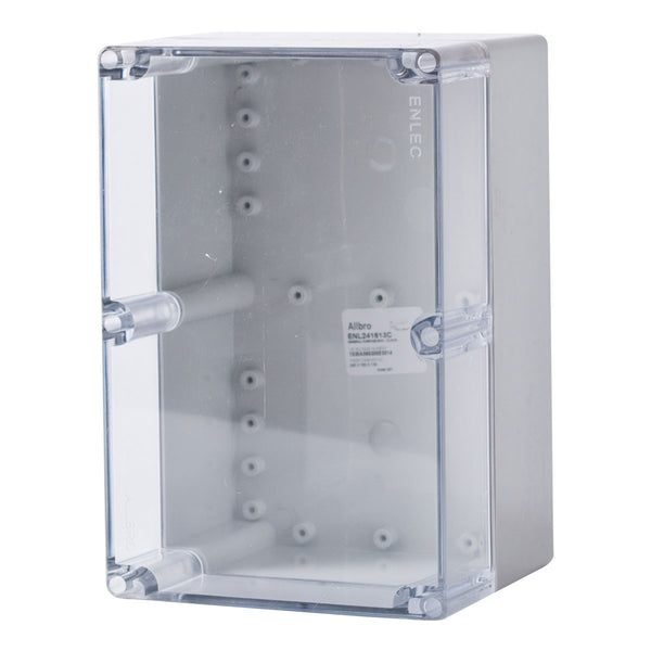 Polycarbonate Terminal Box 240 x 160 x 130 with Transparent Lid IP66