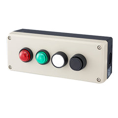 Push Button Station 200mm 4 Hole Beige
