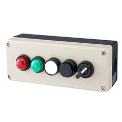 Push Button Station 200mm 5 Hole Beige